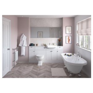 Bathrooms To Love Benita 2400mm Plinth Satin White Ash