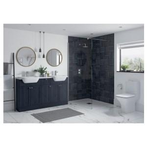 Bathrooms To Love Benita 900x330mm End Panel Indigo Ash