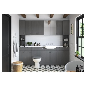 Bathrooms To Love Benita 900x330mm End Panel Grey Ash