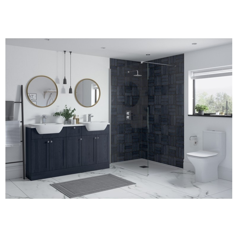 Bathrooms To Love Benita 330x2200mm Tall End Panel Indigo Ash