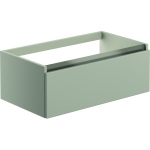 Bathrooms To Love Carino 800mm 1 Drawer Wall Vanity Unit Latte