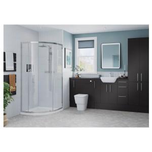 Bathrooms To Love Alba 330x900mm Base End Panel Matt Grey
