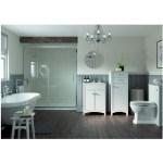 Bathrooms To Love Lucia 610mm Vanity Unit & Basin Satin White Ash