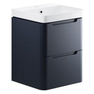 Bathrooms To Love Lambra 500mm Wall Cloakroom Unit Pack Matt Indigo