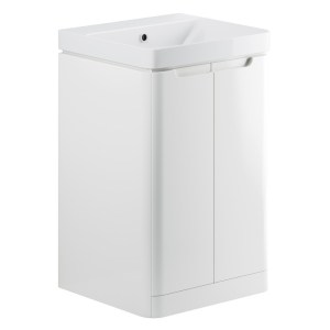 Bathrooms To Love Lambra 500mm Floor Cloakroom Unit Pack White Gloss