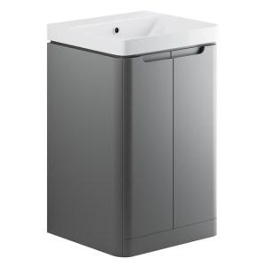 Bathrooms To Love Lambra 500mm Floor Cloakroom Unit Pack Matt Grey