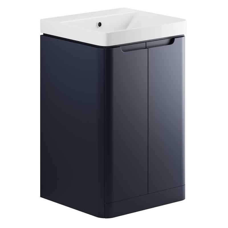 Bathrooms To Love Lambra 500mm Floor Cloakroom Unit Pack Matt Indigo