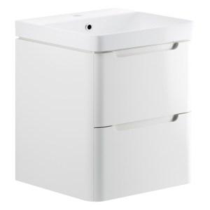 Bathrooms To Love Lambra 600mm Wall Unit & Basin White Gloss