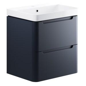 Bathrooms To Love Lambra 600mm Wall Unit & Basin Matt Indigo