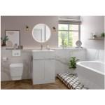 Bathrooms To Love Morina 615mm Floor Unit & Basin White Gloss