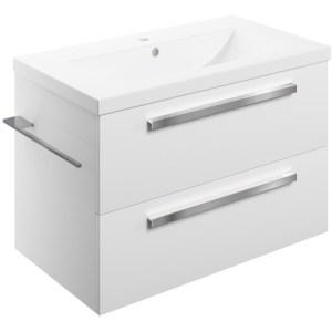 Bathrooms To Love Morina 815mm Wall Unit & Basin White Gloss