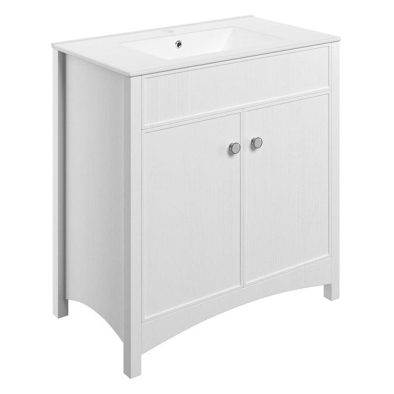 Bathrooms To Love Lucia 810mm Vanity Unit & Basin Satin White Ash