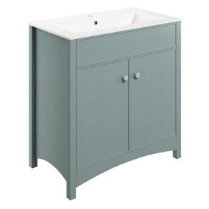Bathrooms To Love Lucia 810mm Vanity Unit & Basin Sea Green Ash