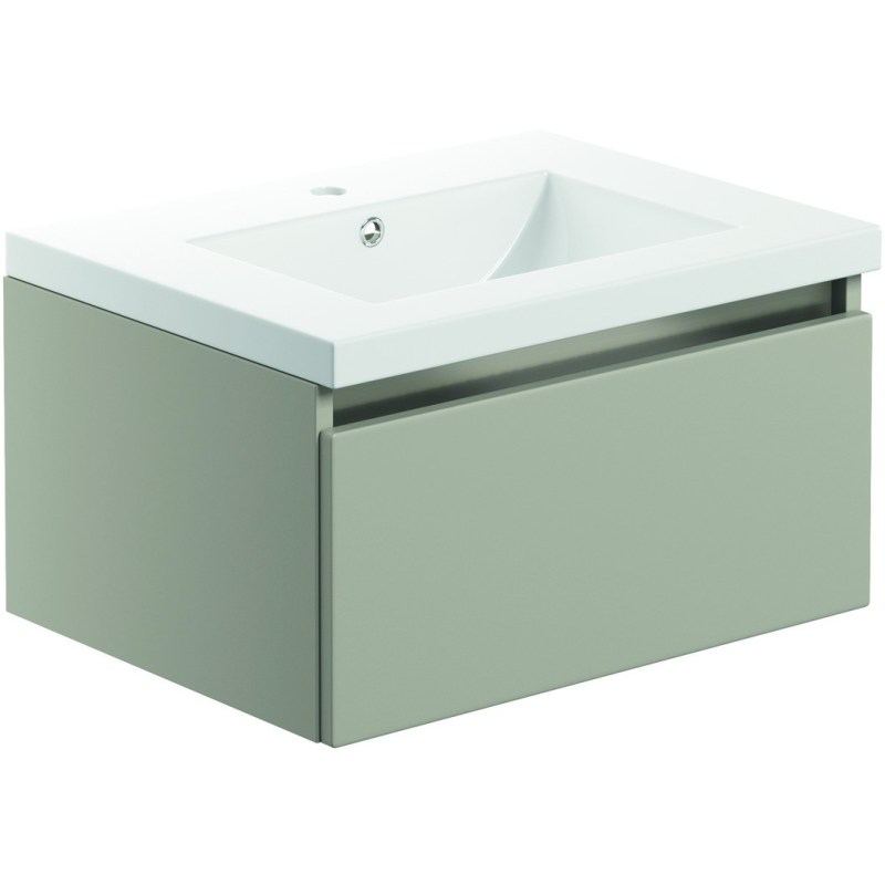 Bathrooms To Love Carino 600mm 1 Drawer Wall Unit & Basin Latte