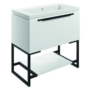 Bathrooms To Love Framework 800mm Floor Unit & Basin Matt White