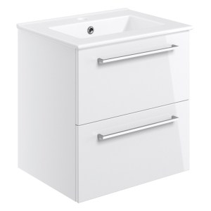 Bathrooms To Love Volta 510mm Wall Hung Unit & Basin White