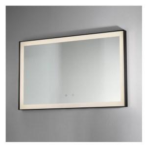 Bathrooms To Love Lecco 800x600mm Edge-Lit Mirror Black