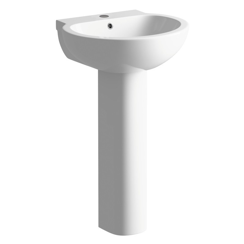 Bathrooms To Love Mimosa 535mm Basin & Full Pedestal