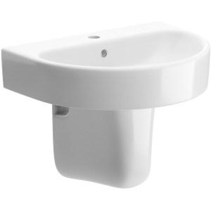 Bathrooms To Love Cilantro 555mm Basin & Semi Pedestal