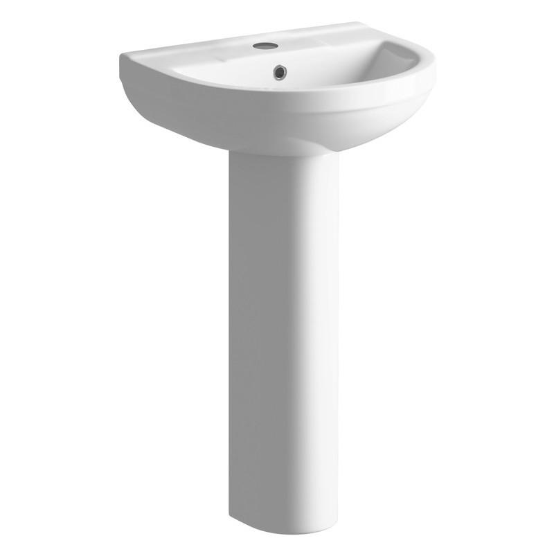 Bathrooms To Love Laurus 500x390mm Basin & Full Pedestal