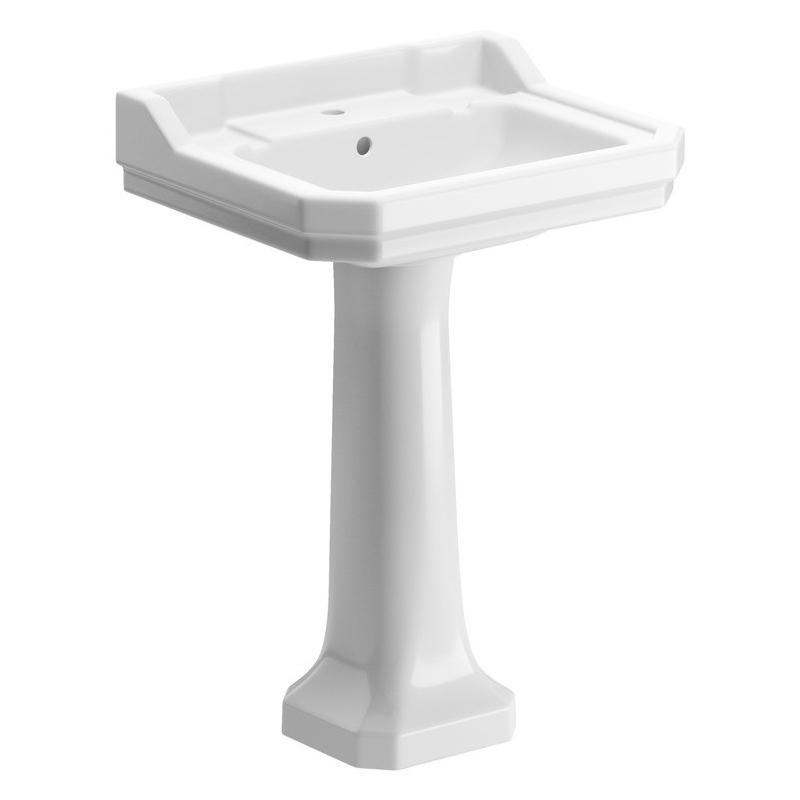 Bathrooms To Love Sherbourne 600mm 2 Taphole Basin & Pedestal