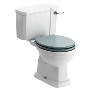Bathrooms To Love Sherbourne Close Coupled WC & Sea Green Seat