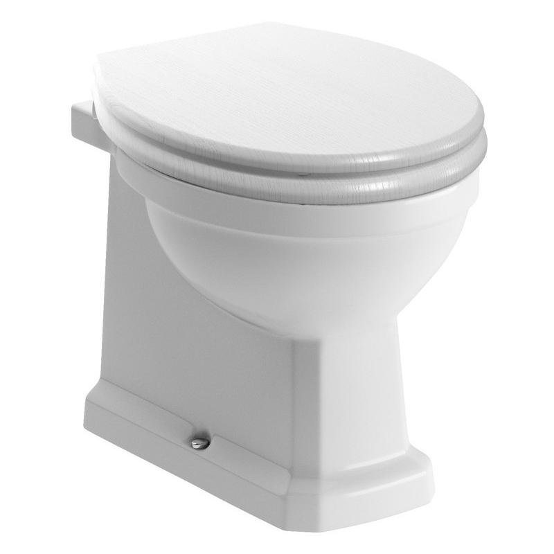 Bathrooms To Love Sherbourne Back To Wall WC & Satin White Seat