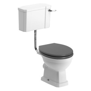 Bathrooms To Love Sherbourne Low Level WC Pack, Grey Seat