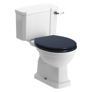 Bathrooms To Love Sherbourne Close Coupled WC & Indigo Toilet Seat