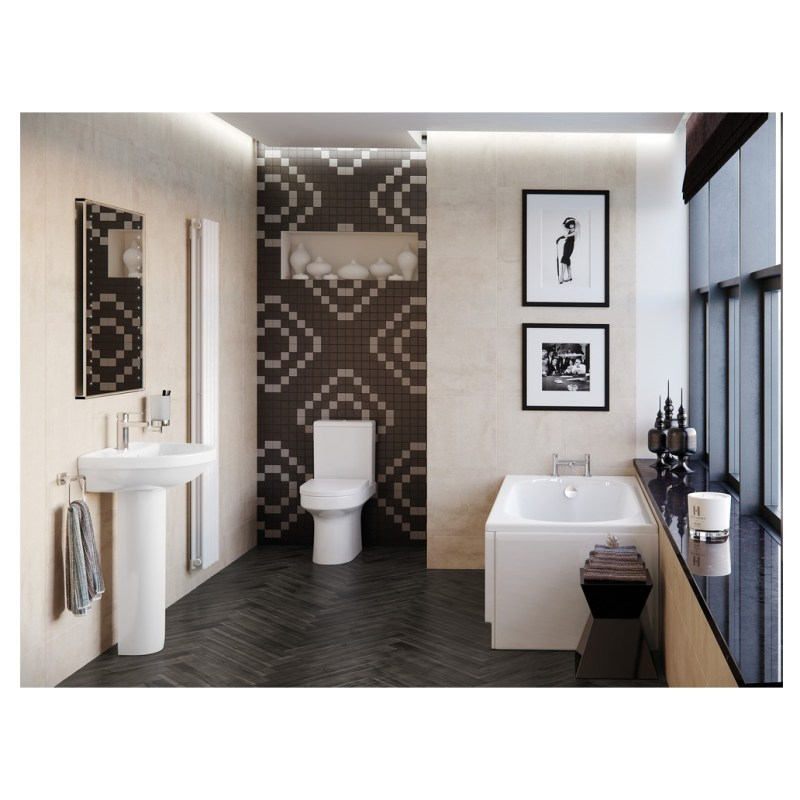 Bathrooms To Love Laurus2 Comfort Height Toilet with Soft Close Seat