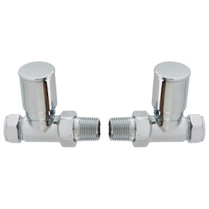 Bathrooms To Love Patterned Straight Radiator Valve Chrome