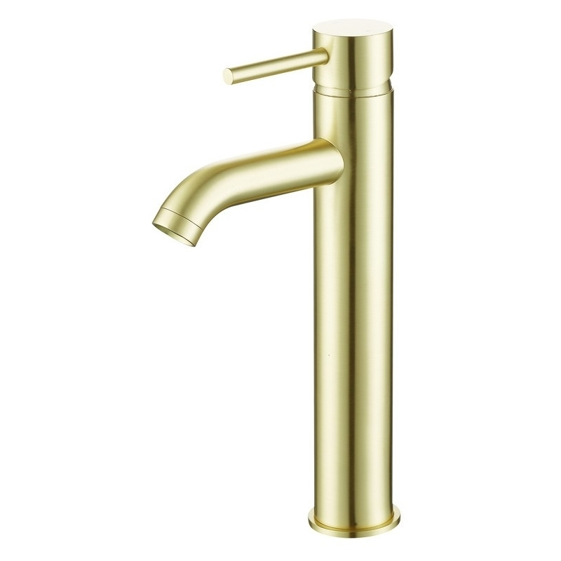 Bathrooms To Love Pesca Tall Basin Tap Brushed Brass