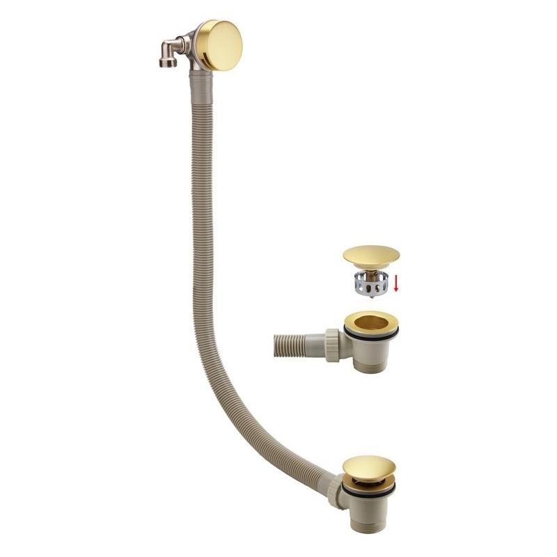 Bathrooms To Love Bath Filler Waste & Overflow Brushed Brass