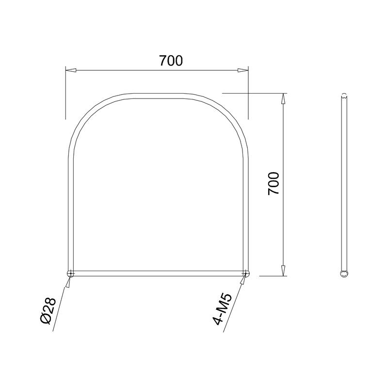 Burlington Curved Mirror 70x70cm