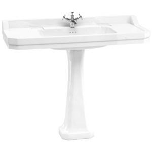 Burlington Edwardian 120cm 1 Taphole Basin & Classic Pedestal