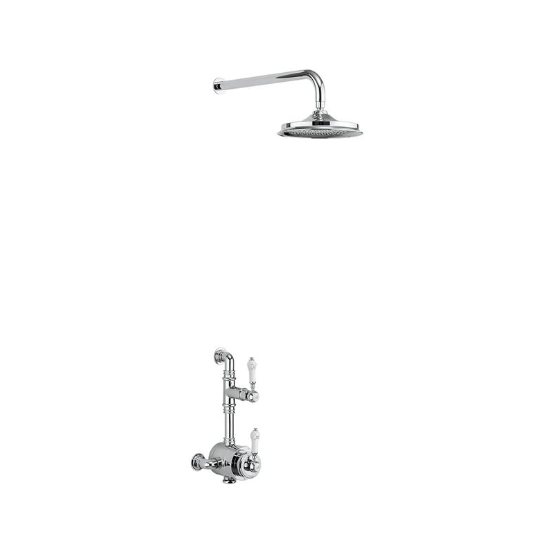 """Burlington Stour Exposed Thermostatic Shower with 6"""" Rose"""