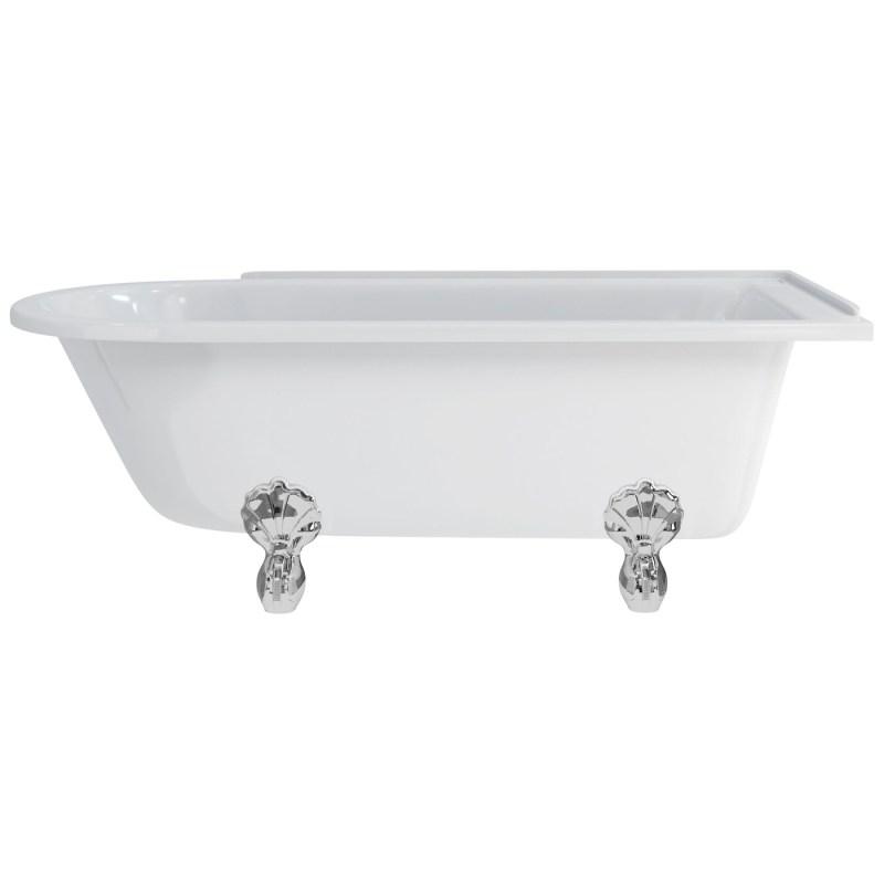 Burlington Hampton 170cm Right Handed Shower Bath, Luxury Feet