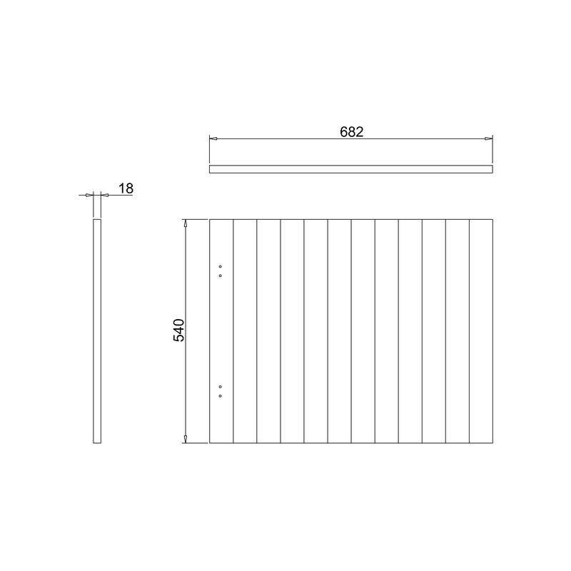 Burlington Arundel 70cm Bath End Panel
