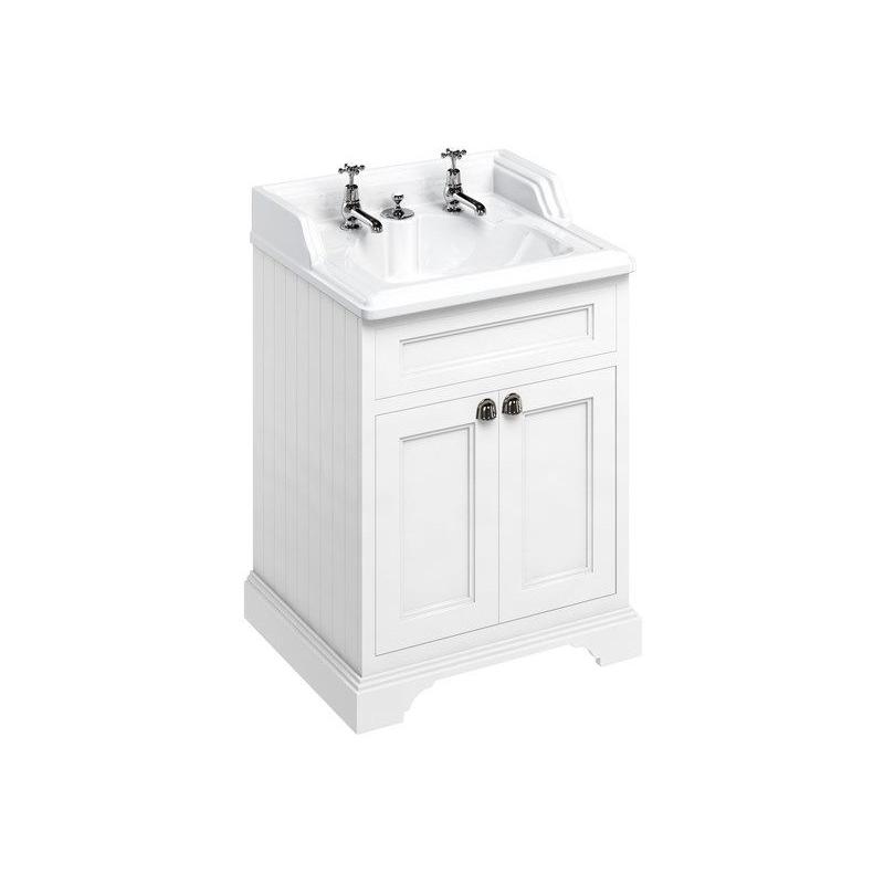 Burlington Freestanding 65cm Vanity Unit & 2 Taphole Basin