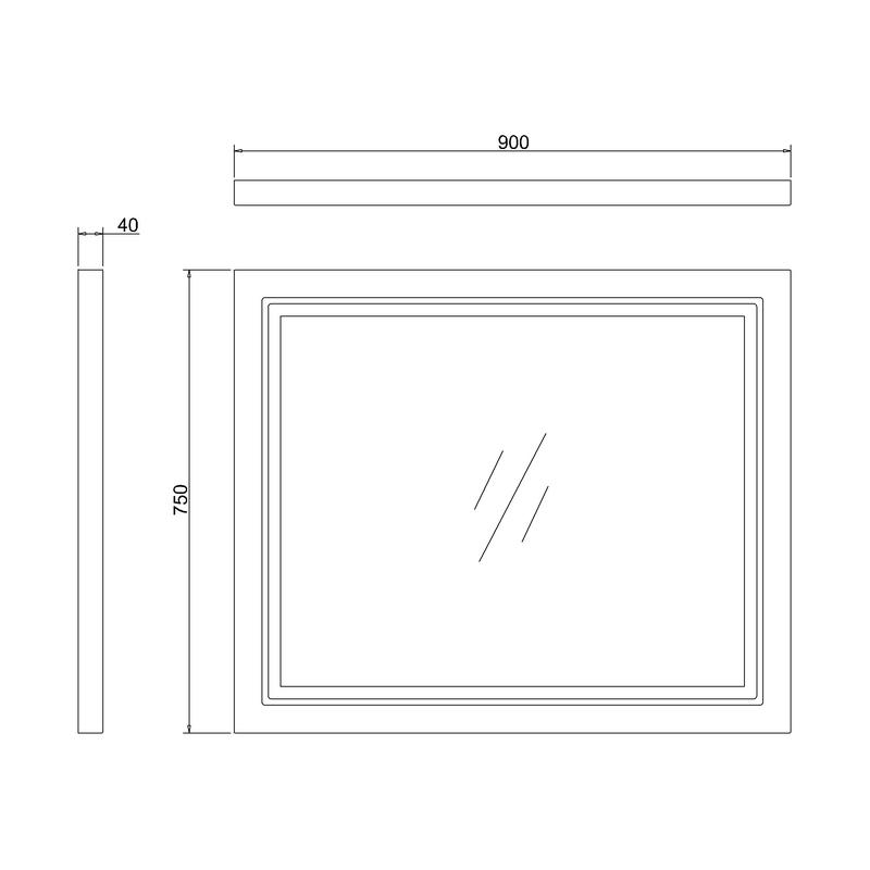 Burlington Framed 90cm LED Mirror Matt White
