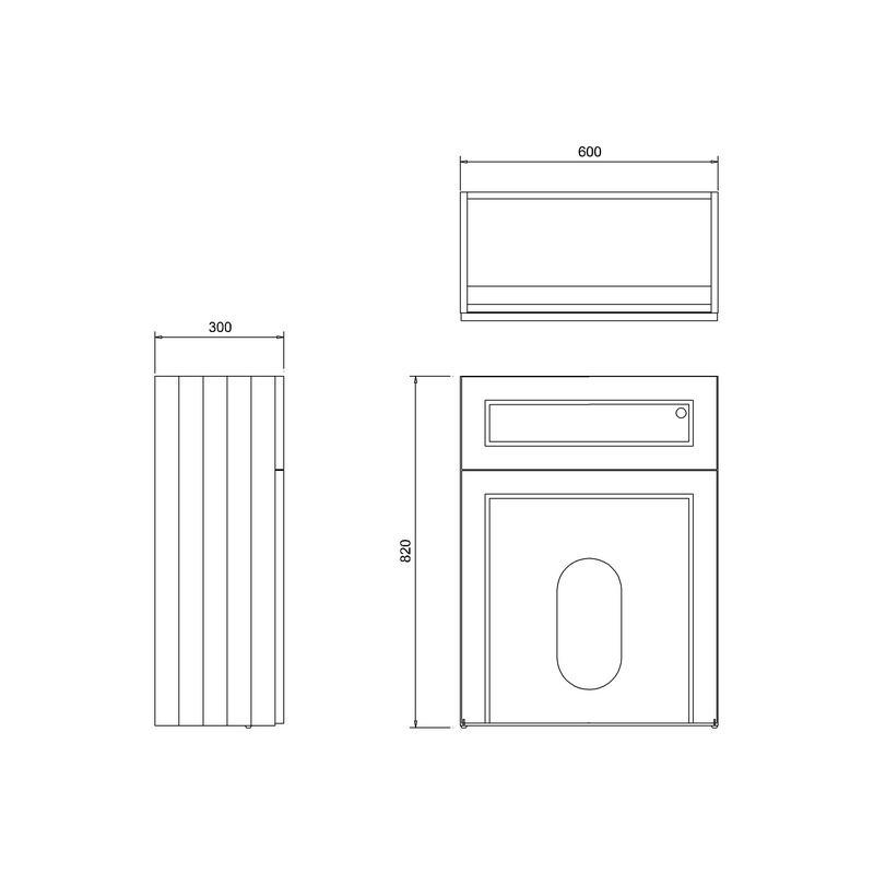 Burlington 60cm Wall Hung White WC Unit, Pan & Cistern