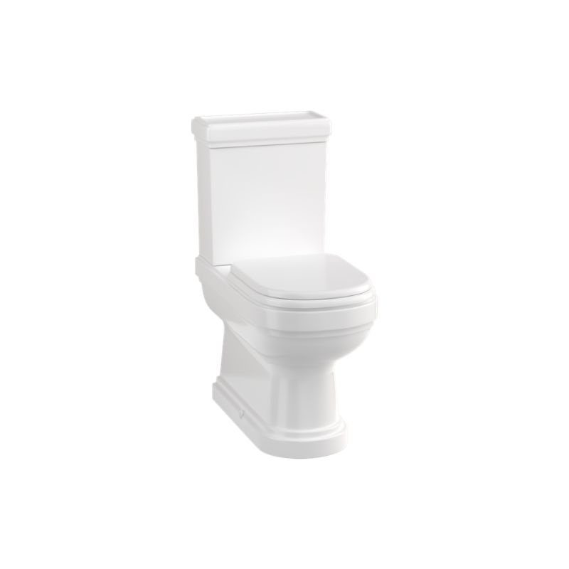 Burlington Riviera Close Coupled Back-To-Wall Toilet with Soft Close Seat
