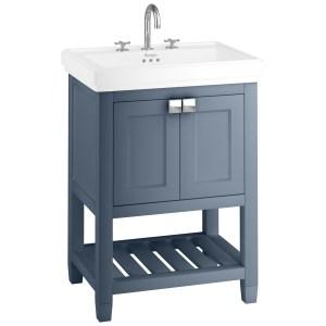 Burlington Riviera 65cm Vanity Unit with Square Basin Blue