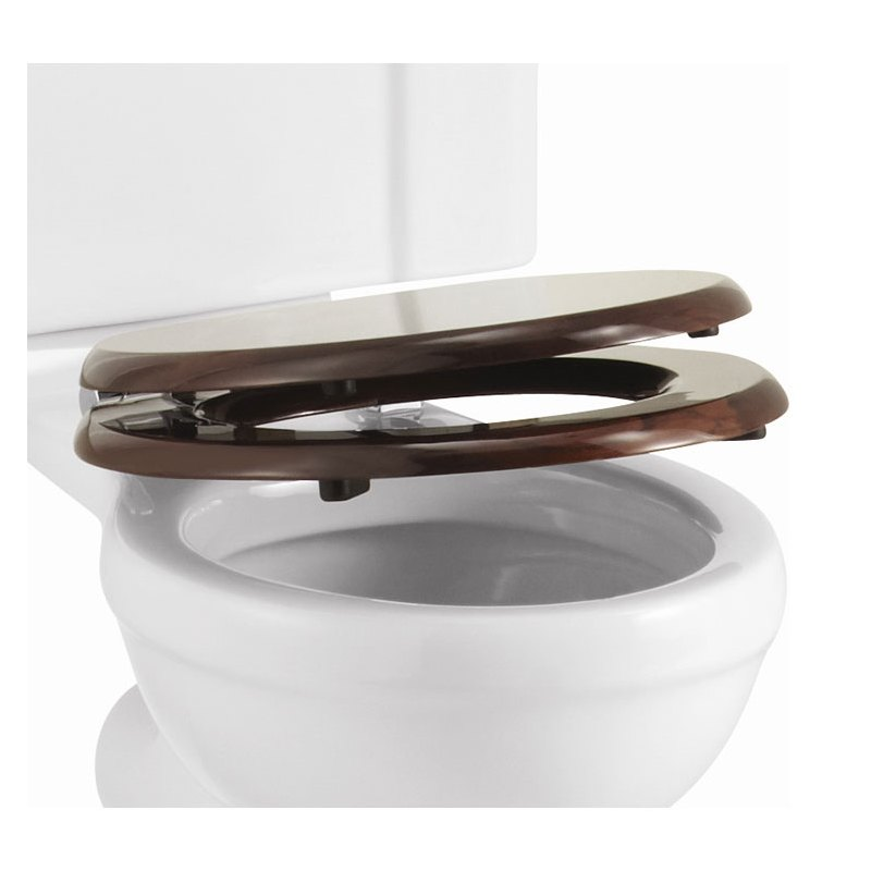 Burlington Soft Close Mahogany Toilet Seat