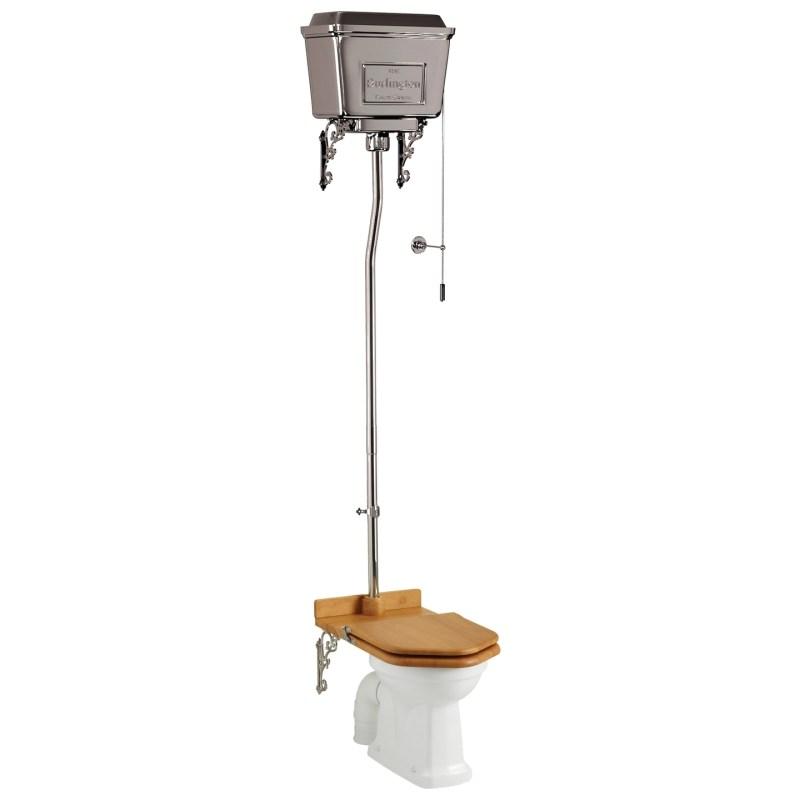 Burlington Standard High Level Toilet with Chrome Lever Cistern