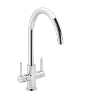 Carron Phoenix Rosolina J-Spout Kitchen Sink Mixer Tap Chrome