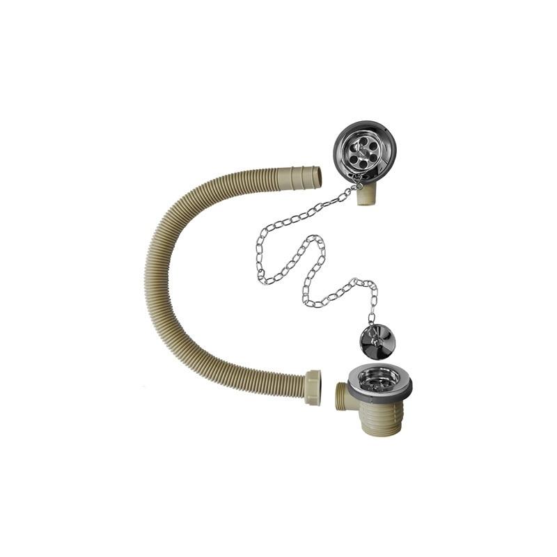 Cifial Bath Waste Plug & Chain Chrome