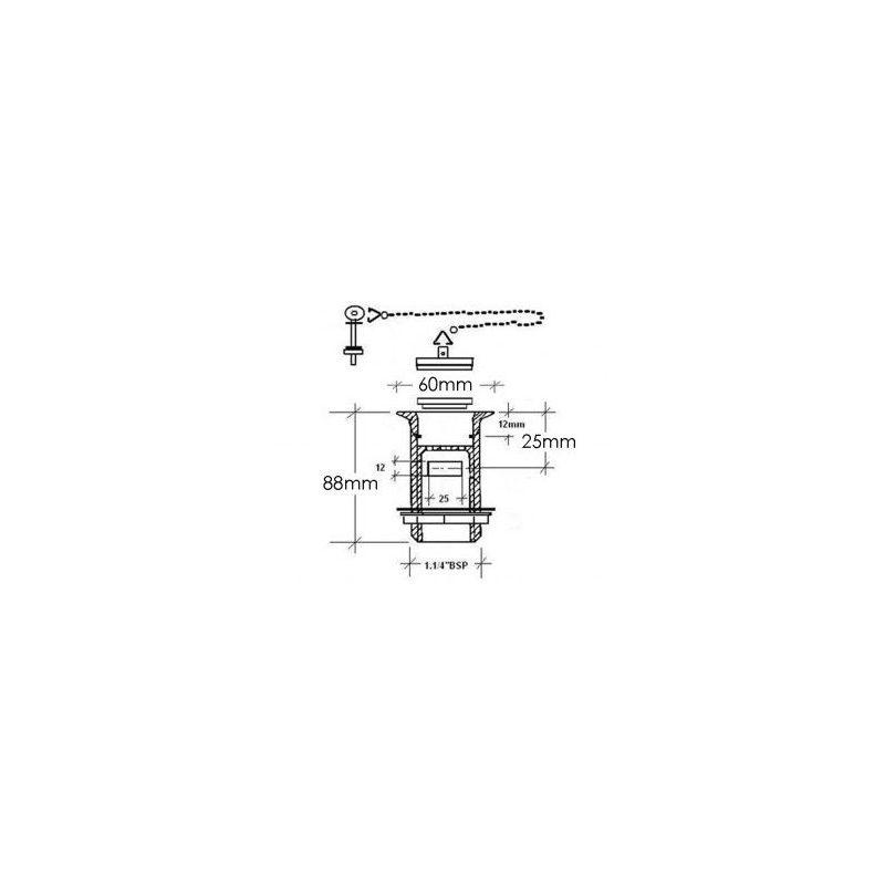 Cifial Slotted Basin Waste Plug & Chain Chrome