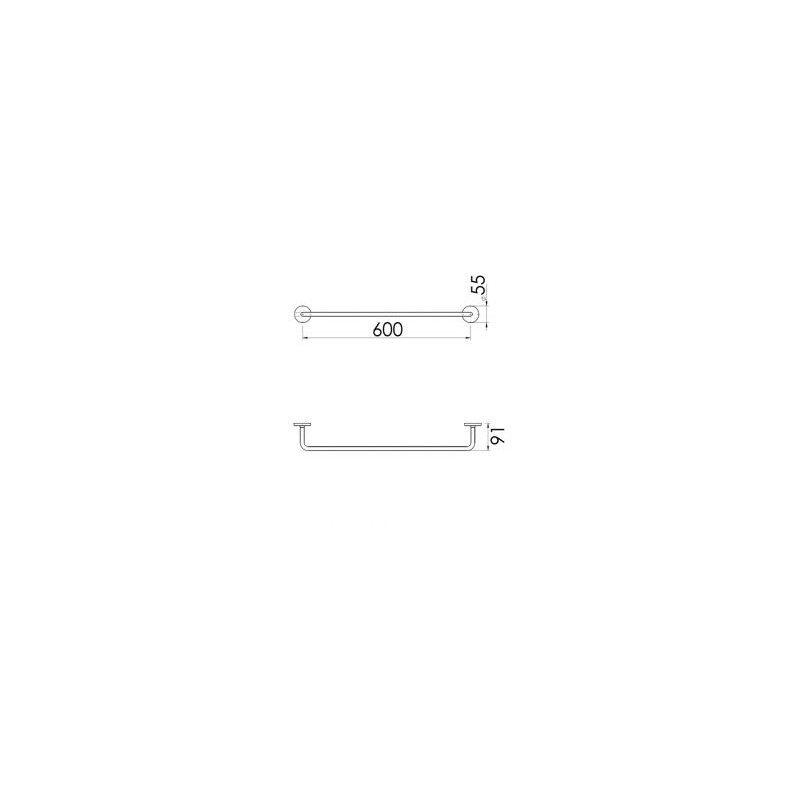Cifial TH400 Towel Bar 600mm Chrome