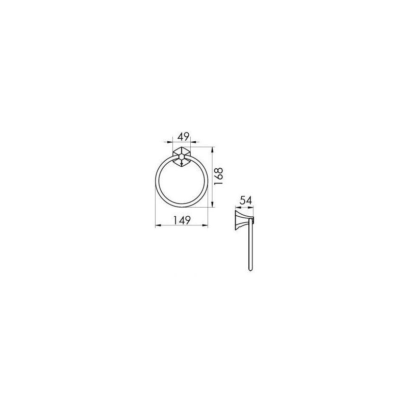 Cifial Hexa Towel Ring Chrome